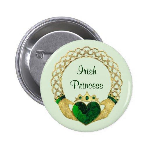 Claddagh Princess Button