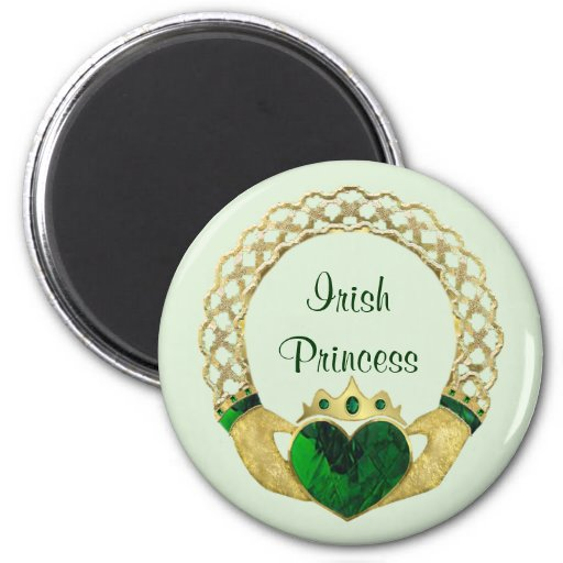 Claddagh Princess Fridge Magnets