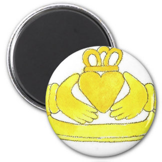 Claddagh Ring 6 Cm Round Magnet