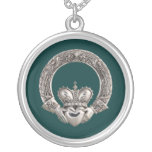Claddagh Round Pendant Necklace