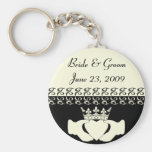 Claddagh Wedding Invitation set Basic Round Button Key Ring