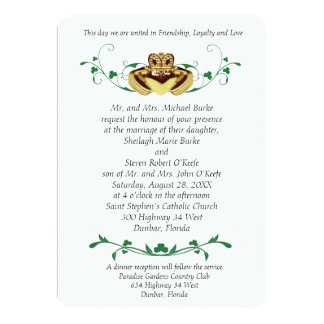 Claddaugh / Claddagh Wedding Invitations