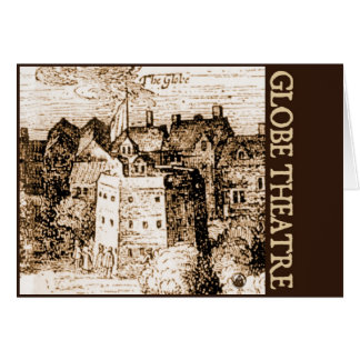 Claes Jansz Visscher Globe Theatre Engraving Card