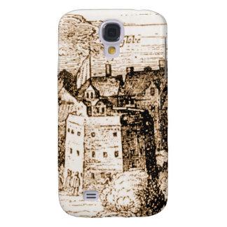 Claes Jansz Visscher Globe Theatre Engraving Samsung Galaxy S4 Cases