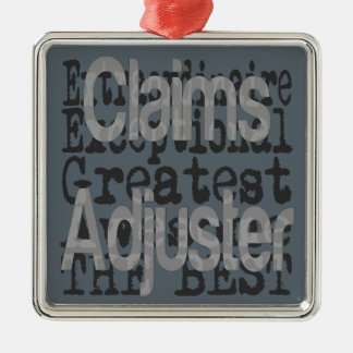 Claims Adjuster Extraordinaire Silver-Colored Square Decoration