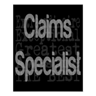 Claims Specialist Extraordinaire Poster