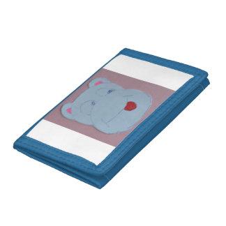 Claire Blue TriFold Nylon Wallet