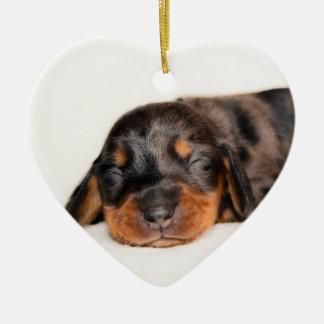 Claire Newborn-Lovebugdoxies puppy keepsake Ceramic Heart Decoration