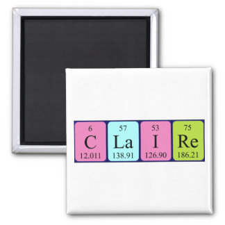 Claire periodic table name magnet