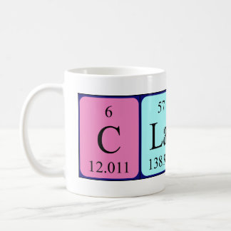 Claire periodic table name mug