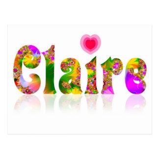 Claire Postcard