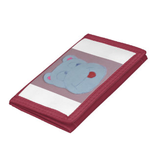 Claire Red TriFold Nylon Wallet