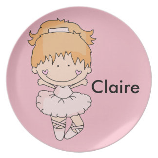 Claire's Personalized Ballet Plate