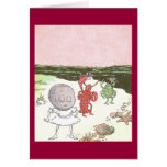 Clam, Lobster & Crab on the Beach Greeting Card
