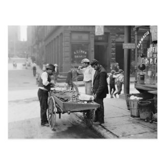 Clam Seller in Little Italy, 1906 Post Card