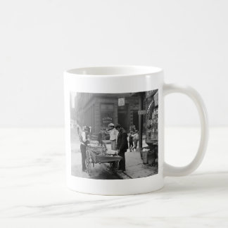 Clam Seller on Mulberry Street 1900 Coffee Mugs