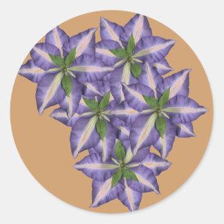 Clamatis 4 round sticker