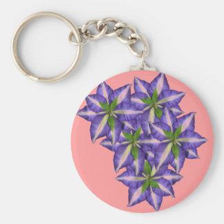Clamatis 5 basic round button key ring