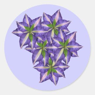 Clamatis 5 round sticker