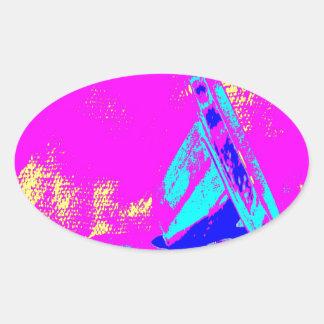 Clamp Brass M Oval Sticker