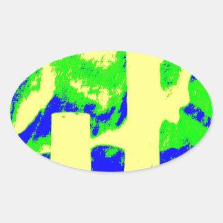 Clamp Brass R Oval Sticker