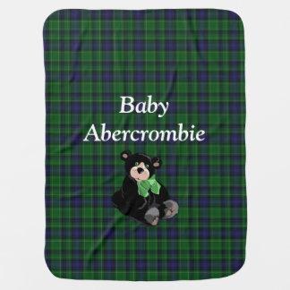 Clan Abercrombie Tartan Plaid Baby Blanket