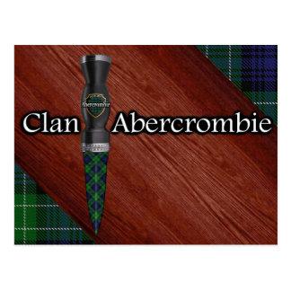 Clan Abercrombie Tartan Sgian Dubh Blade Postcard