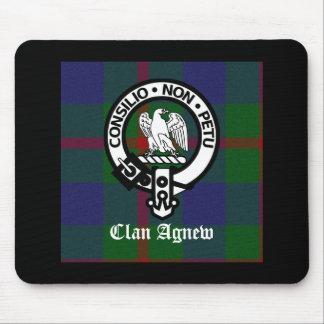 Clan Agnew Tartan Crest Mouse Mat