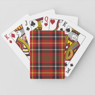 Clan Akins dress tartan playing cards