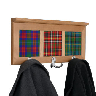 Clan Akins tartans wood and tile coatrack