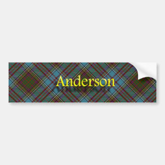 Clan Anderson Scottish Tartan Bumper Sticker