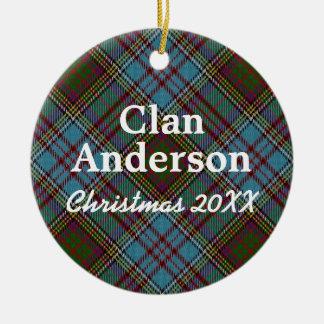 Clan Anderson Scottish Tartan Christmas Ornament