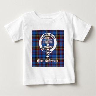 Clan Anderson Tartan Crest Baby T-Shirt