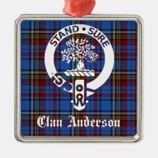 Clan Anderson Tartan Crest Christmas Ornament
