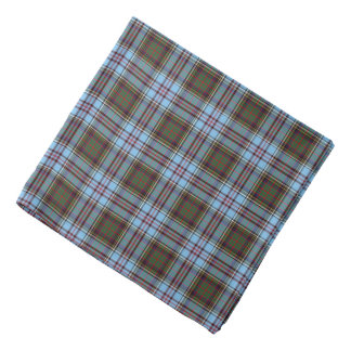 Clan Anderson Tartan Light Blue Plaid Bandana