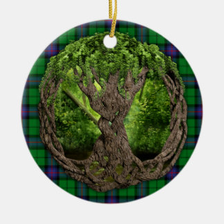 Clan Armstrong Tartan And Celtic Tree Of Life Christmas Ornament