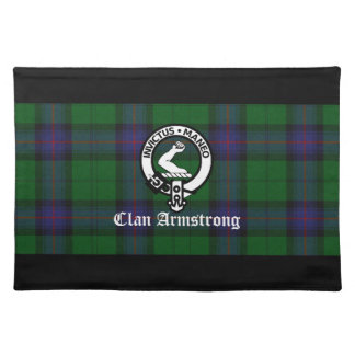 Clan Armstrong Tartan and Crest Badge Placemat