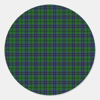 Clan Austin Tartan Classic Round Sticker