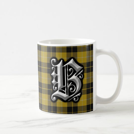Clan Barclay Letter B Monogram Dress Tartan Coffee
