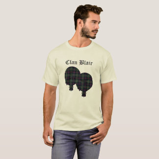 Clan Blair Modern Tartan Logo T-Shirt