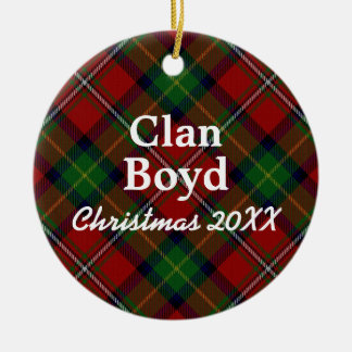 Clan Boyd Scottish Tartan Christmas Ornament