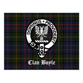 Clan Boyle Crest & Tartan Postcard