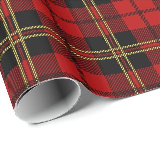 Clan Brodie Red Tartan Plaid Pattern Wrapping Paper
