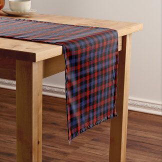 Clan Brown Red and Royal Blue Scottish Tartan Short Table Runner