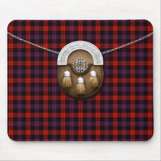 Clan Brown Tartan And Sporran Mouse Mat
