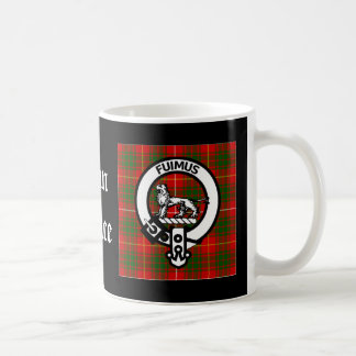 Clan Bruce Crest Tartan Coffee Mug