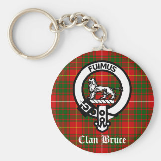 Clan Bruce Crest Tartan Key Ring