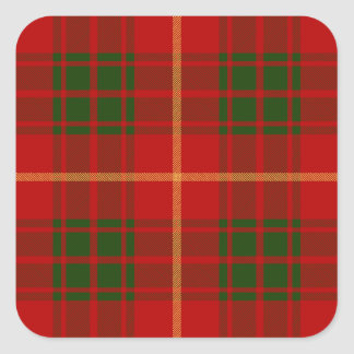 Clan Bruce Tartan Square Sticker