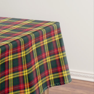 Clan Buchanan Green and Yellow Scottish Tartan Tablecloth