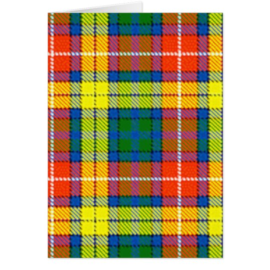 Clan Buchanan Tartan Card